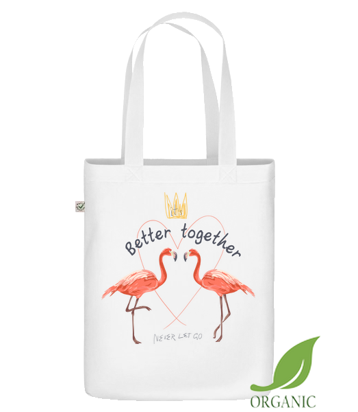 Better Together Flamingos - Bio Tasche - Weiß - Vorn