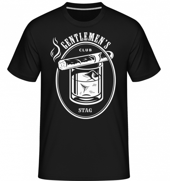 Gentlemen's Club STAG - Shirtinator Männer T-Shirt - Schwarz - Vorn