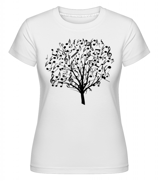 Musikbaum - Shirtinator Frauen T-Shirt - Weiß - Vorn