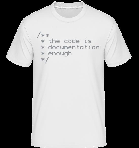 Code Is Documentation - Shirtinator Männer T-Shirt - Weiß - Vorn