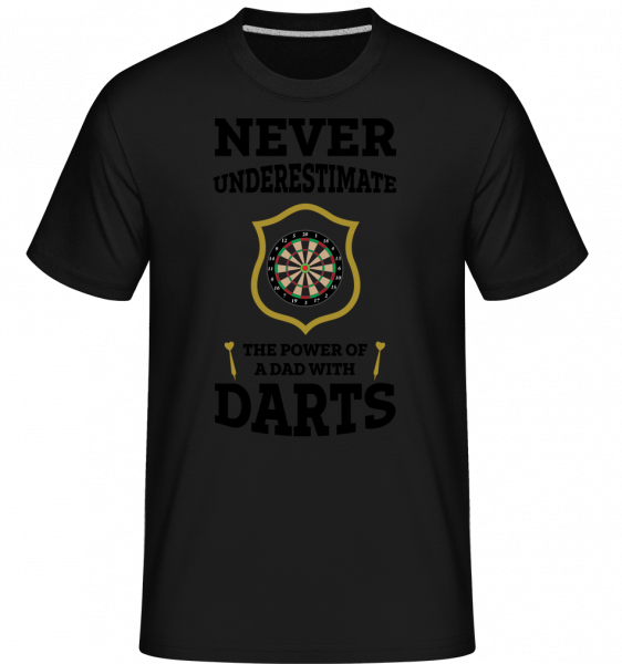 Never Underestimate Darts - Shirtinator Männer T-Shirt - Schwarz - Vorn