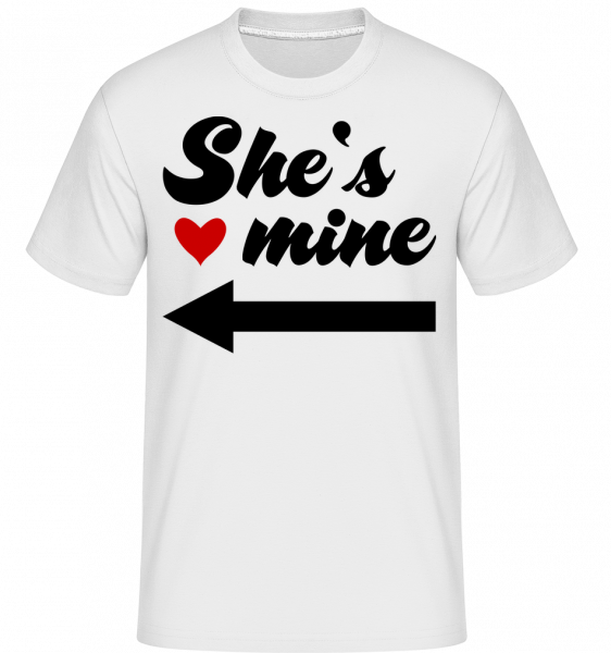 She Is Mine - Shirtinator Männer T-Shirt - Weiß - Vorn