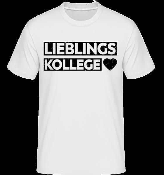 Lieblingskollege - Shirtinator Männer T-Shirt - Weiß - Vorn