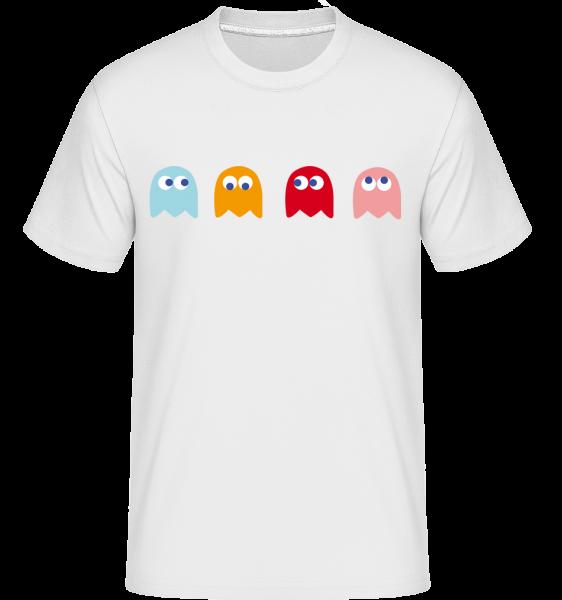 Computerspiel Monster - Shirtinator Männer T-Shirt - Weiß - Vorn
