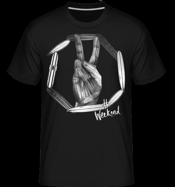 Weekend Peace - Shirtinator Männer T-Shirt - Schwarz - Vorn