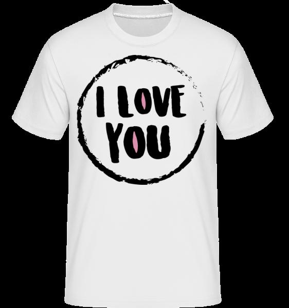 I Love You - Shirtinator Männer T-Shirt - Weiß - Vorn