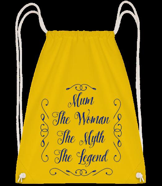 Mum - The Legend - Turnbeutel - Gelb - Vorn