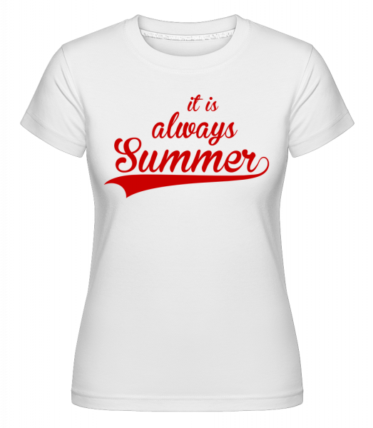 Always Summer Icon - Shirtinator Frauen T-Shirt - Weiß - Vorn