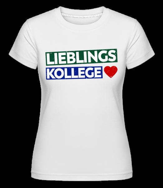 Lieblingskollege - Shirtinator Frauen T-Shirt - Weiß - Vorn
