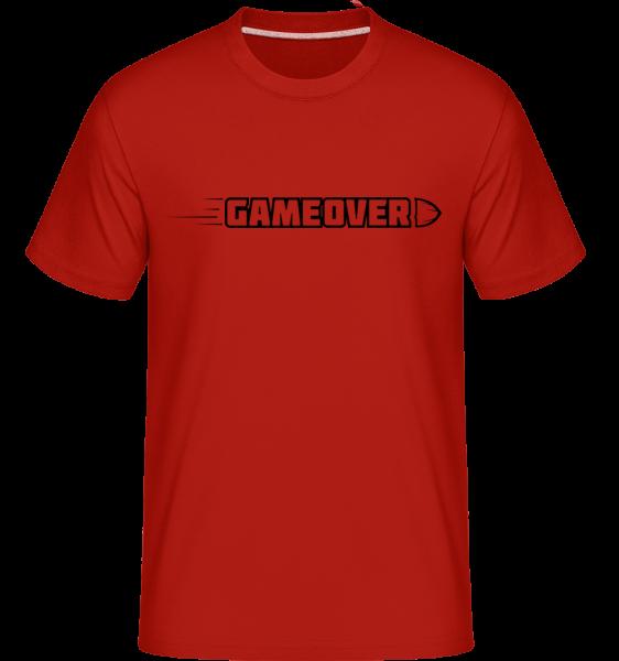 Game Over Simple Sign - Shirtinator Männer T-Shirt - Rot - Vorn