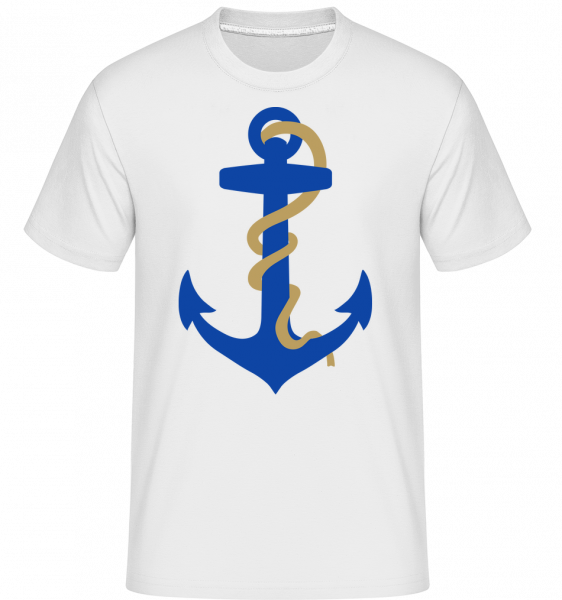 Anker Mit Seil - Shirtinator Männer T-Shirt - Weiß - Vorn