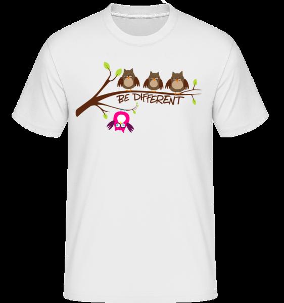 Be Different Owls - Shirtinator Männer T-Shirt - Weiß - Vorn