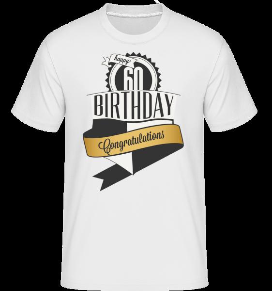 60 Birthday Congrats - Shirtinator Männer T-Shirt - Weiß - Vorn