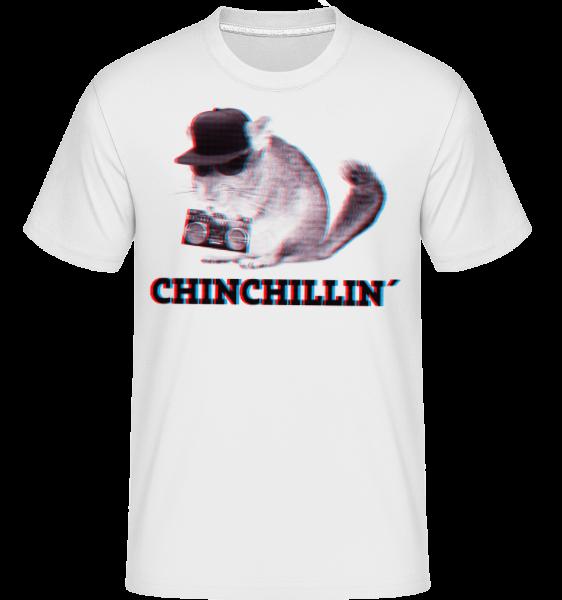 ChinChillin' - Shirtinator Männer T-Shirt - Weiß - Vorn