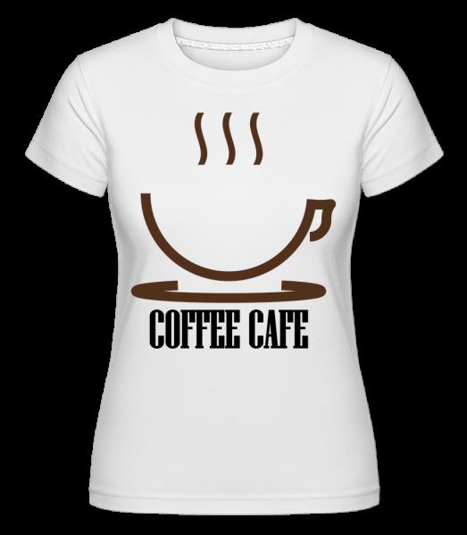 Coffee Cafe Logo - Shirtinator Frauen T-Shirt - Weiß - Vorn