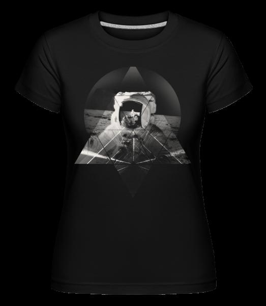 Astronaut - Shirtinator Frauen T-Shirt - Schwarz - Vorn