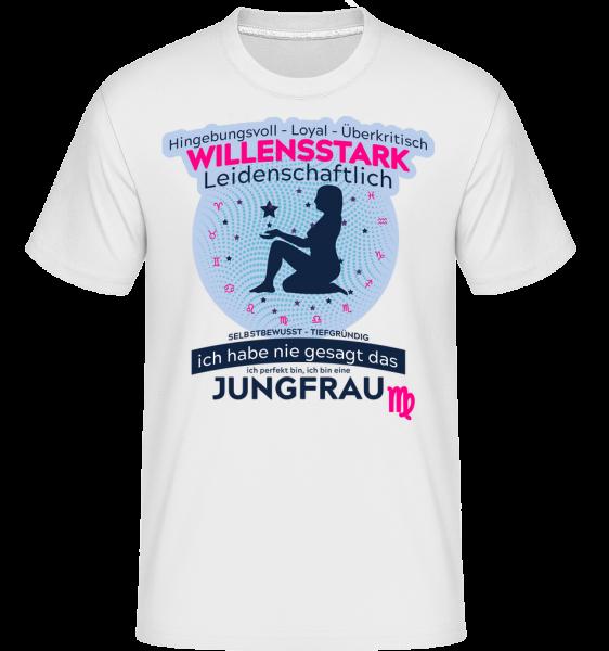 Sternzeichen Jungfrau - Shirtinator Männer T-Shirt - Weiß - Vorn