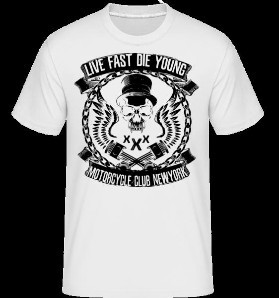 Live Fast Die Young Skull - Shirtinator Männer T-Shirt - Weiß - Vorn