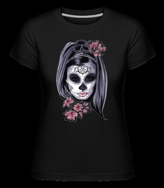 Gruselmädchen Maske - Shirtinator Frauen T-Shirt - Schwarz - Vorn