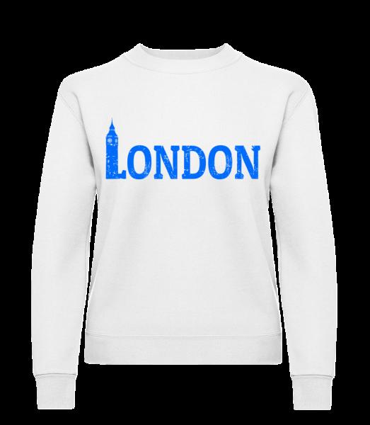 London UK - Frauen Pullover - Weiß - Vorn