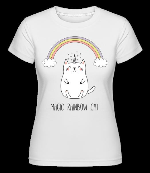 Magic Rainbow Cat - Shirtinator Frauen T-Shirt - Weiß - Vorn