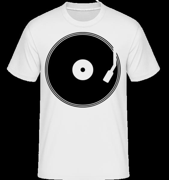 DJ Schallplatte - Shirtinator Männer T-Shirt - Weiß - Vorn