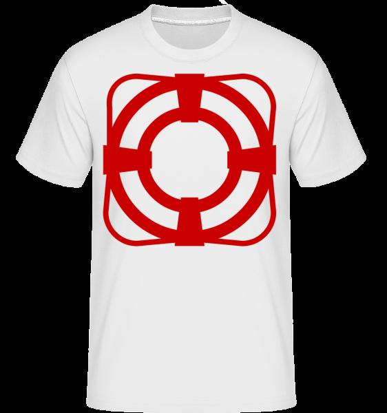 Rettungsring - Shirtinator Männer T-Shirt - Weiß - Vorn