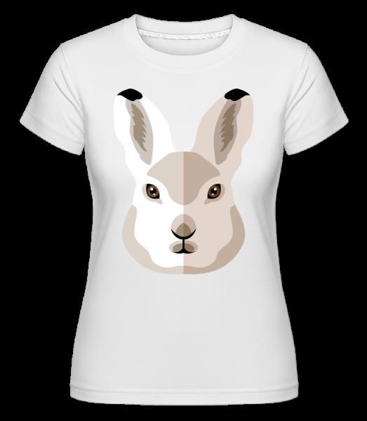 Hase Comic Schatten - Shirtinator Frauen T-Shirt - Weiß - Vorn