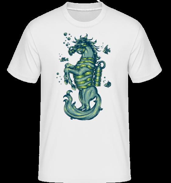 Gasmasken Pferd - Shirtinator Männer T-Shirt - Weiß - Vorn