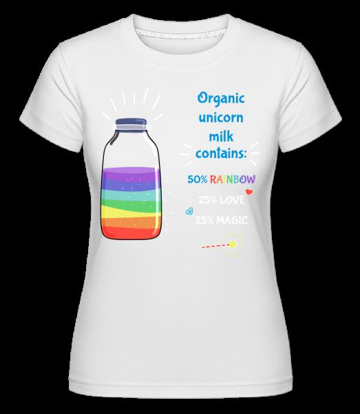 Organic Unicorn Milk - Shirtinator Frauen T-Shirt - Weiß - Vorn