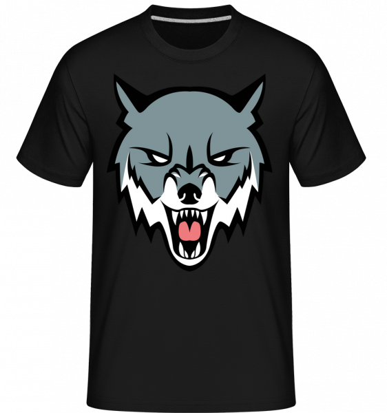 Grimmiger Wolf - Shirtinator Männer T-Shirt - Schwarz - Vorn