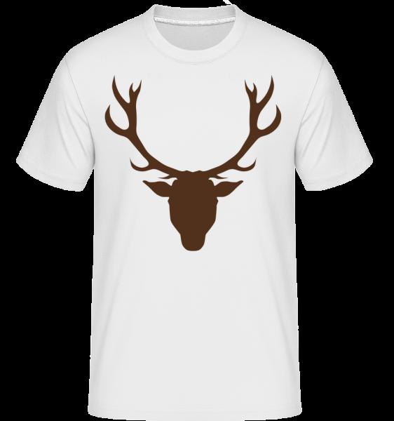 Hirsch - Braun - Shirtinator Männer T-Shirt - Weiß - Vorn