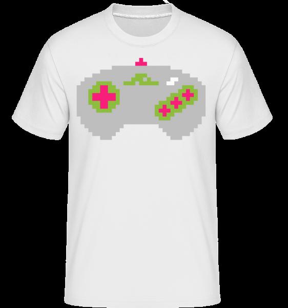 Konsolen Controller Oldschool Pi - Shirtinator Männer T-Shirt - Weiß - Vorn