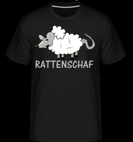 Rattenschaf - Shirtinator Männer T-Shirt - Schwarz - Vorn