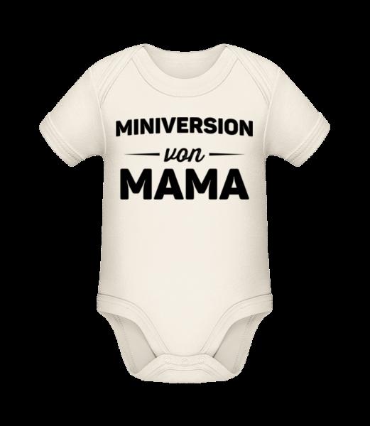 Miniversion Von Mama - Baby Bio Strampler - Creme - Vorn