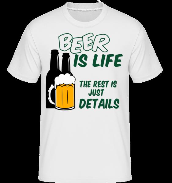Beer Is Life - Shirtinator Männer T-Shirt - Weiß - Vorn