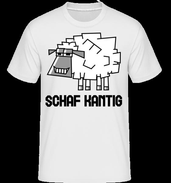 Schafkantig - Shirtinator Männer T-Shirt - Weiß - Vorn