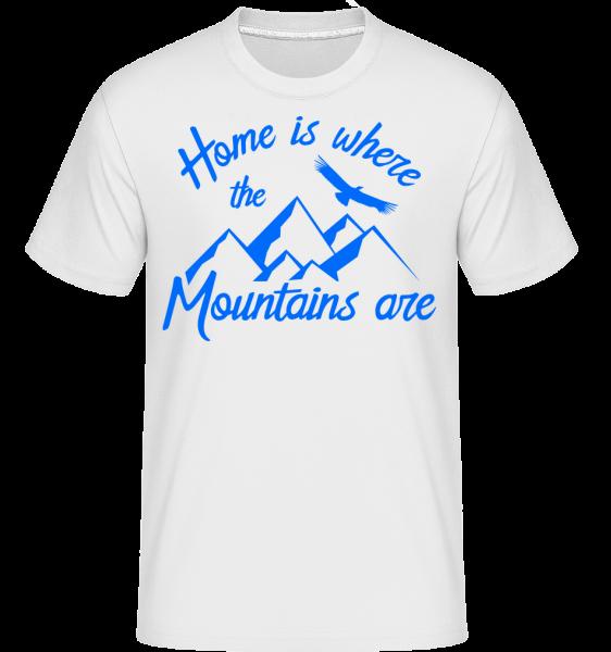 Home Is Where The Mountains Are - Shirtinator Männer T-Shirt - Weiß - Vorn