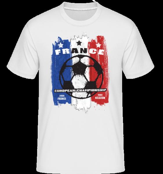 Fußball Frankreich - Shirtinator Männer T-Shirt - Weiß - Vorn