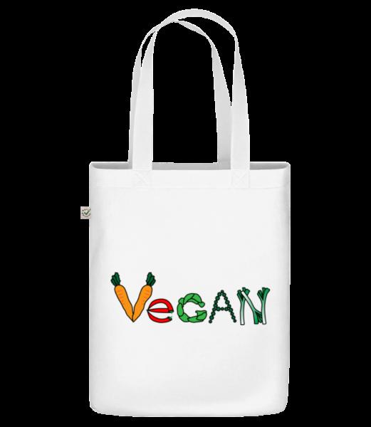 Vegan Comic - Bio Tasche - Weiß - Vorn