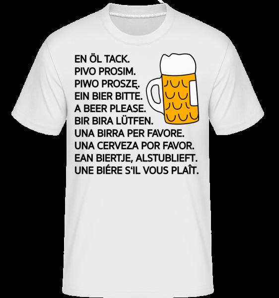 Beer Please - Shirtinator Männer T-Shirt - Weiß - Vorn