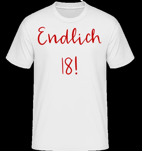 Endlich 18! - Shirtinator Männer T-Shirt - Weiß - Vorn