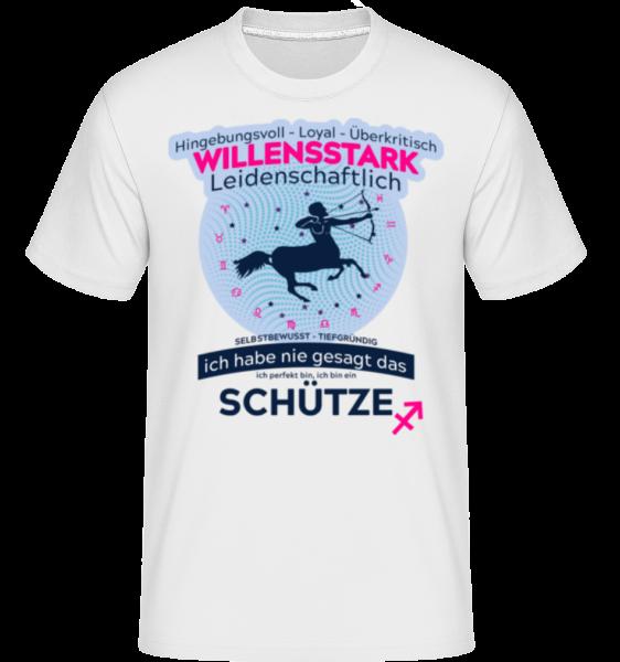 Sternzeichen Schütze - Shirtinator Männer T-Shirt - Weiß - Vorn