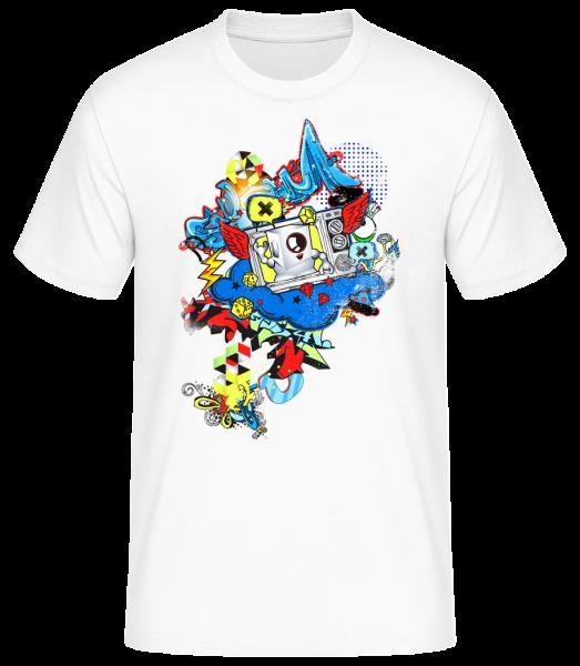 Modernes Graffiti - Basic T-Shirt - Weiß - Vorn