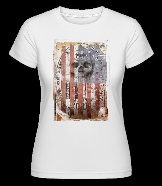 New York Totenkopf - Shirtinator Frauen T-Shirt - Weiß - Vorn