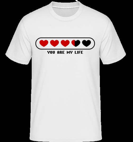 You Are My Life Hearts - Shirtinator Männer T-Shirt - Weiß - Vorn