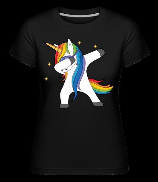 Party Einhorn - Shirtinator Frauen T-Shirt - Schwarz - Vorn