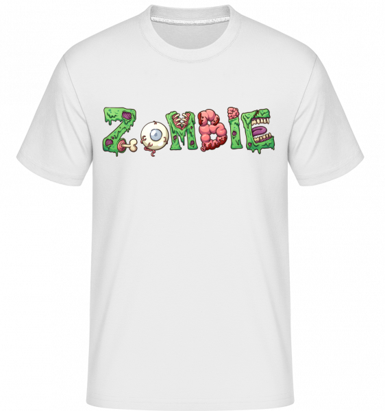 Zombie Schrift - Shirtinator Männer T-Shirt - Weiß - Vorn
