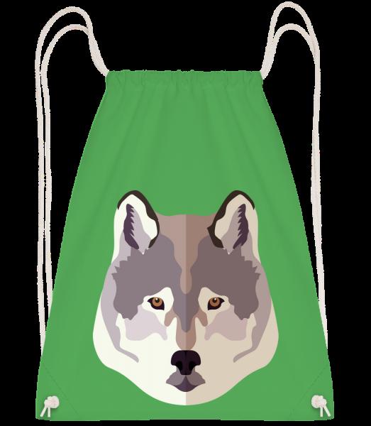 Wolf Comic Schatten - Turnbeutel - Irischgrün - Vorn