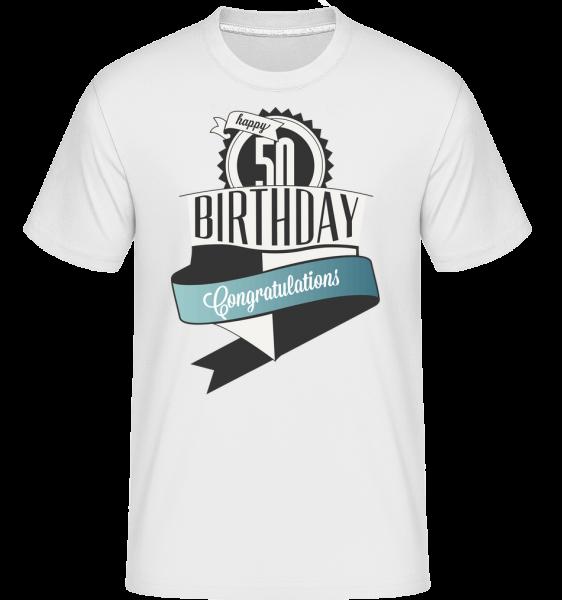 50 Birthday Congrats - Shirtinator Männer T-Shirt - Weiß - Vorn